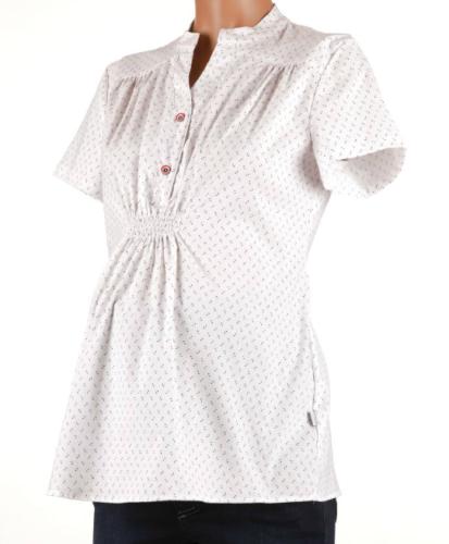 8343f2989b71ae Ajda kółka elegancka koszula ciążowa i do karmienia z krótkim rękawem  Mamabaja