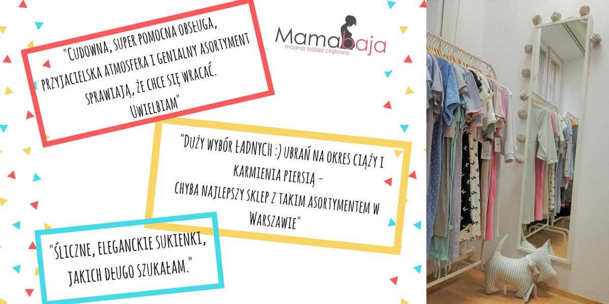 Mamamaba odzież ciążowa Warszawa stacjonarnie