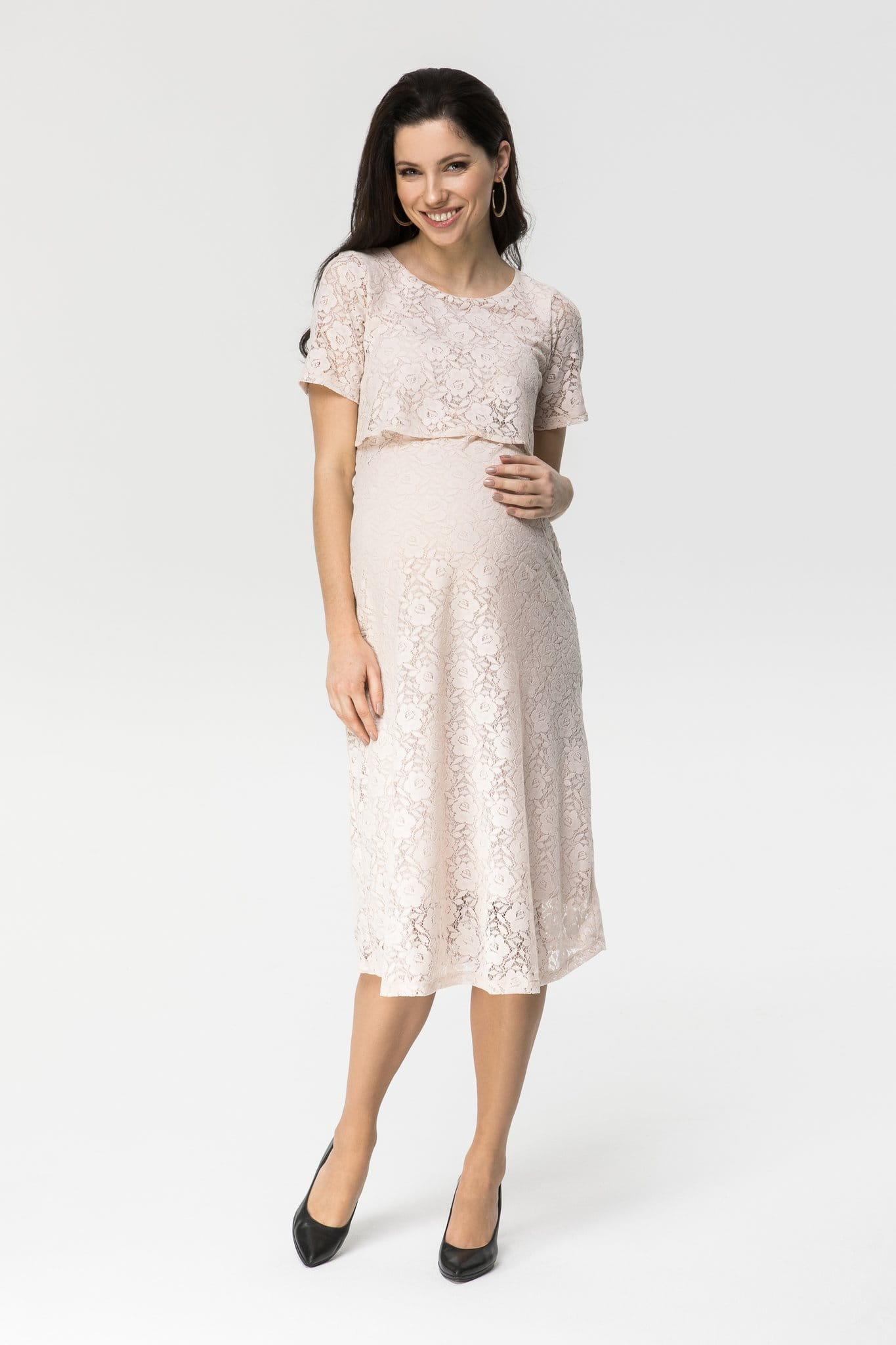 120c18fb4 Romantic róż koronkowa sukienka do karmienia i ciążowa COOL Mamabaja